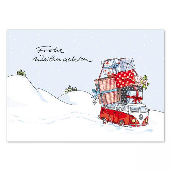 krima&isa Postkarte Geschenkebus