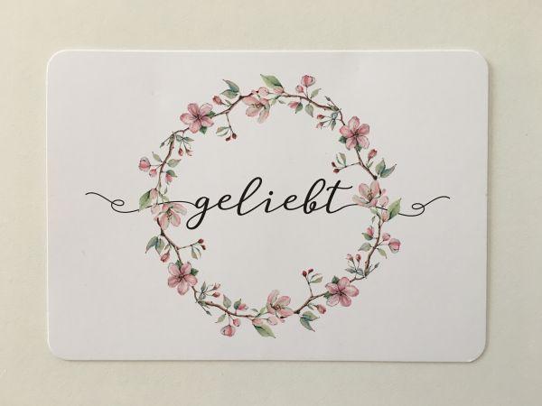 """Postkarte """"geliebt'"""