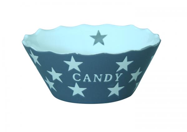 """Schale """"Candy"""", grau mit Sternen"""