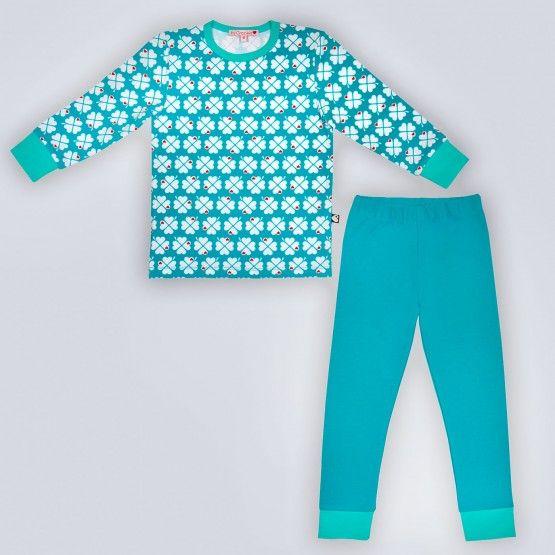 byGraziela Schlafanzug/Pyjama Kleeblatt türkis, 116