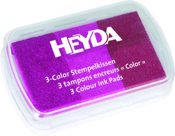 """3-Color-Stempelkissen """"Rosatöne"""" Heyda"""