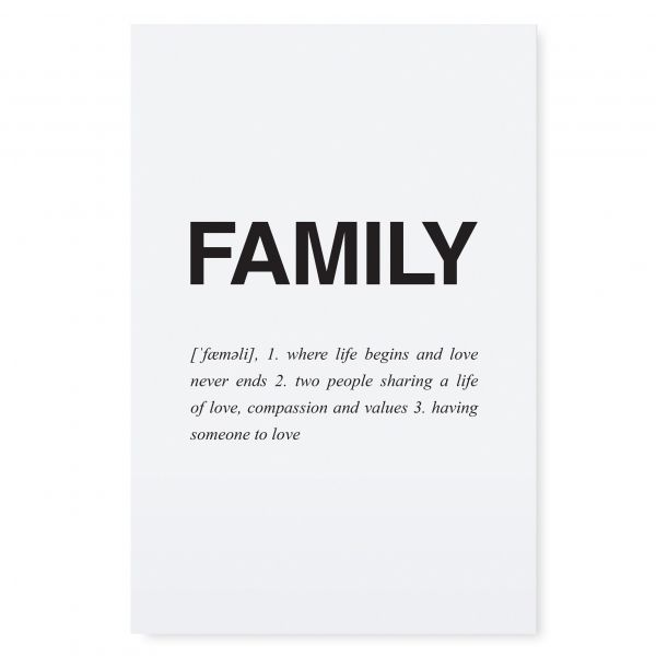 "Postkarte ""FAMILY"" von Tafelgut"