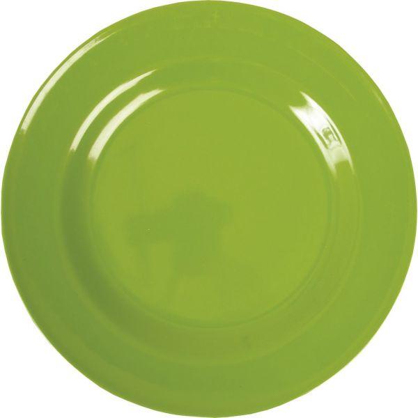 Teller aus Melamin, grün