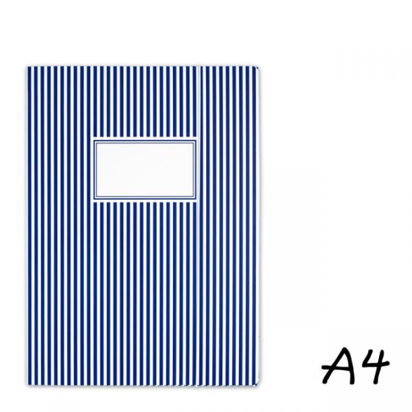 krima&isa Sammelmappe A4 gestreift dunkelblau