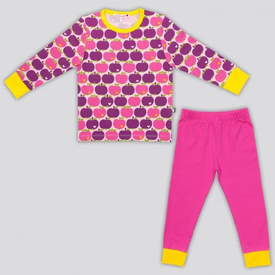byGraziela Schlafanzug Apfel lila, Größe 128
