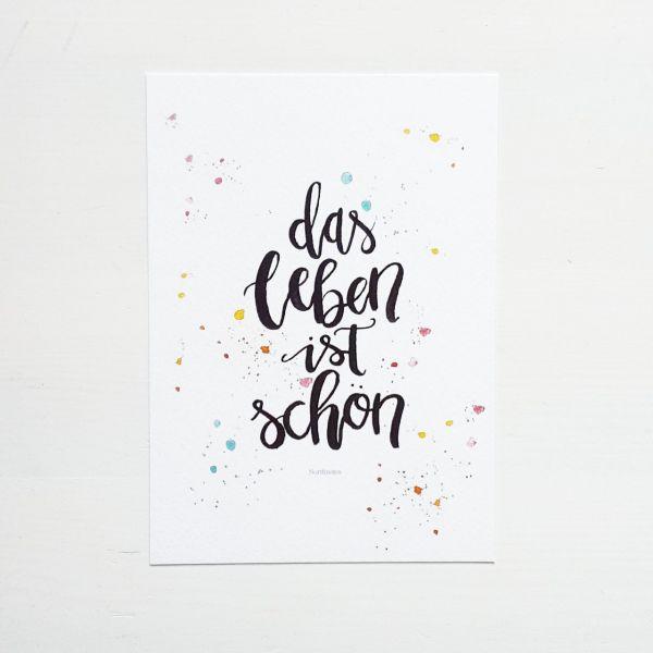"""Postkarte """"Das Leben ist schön"""""""