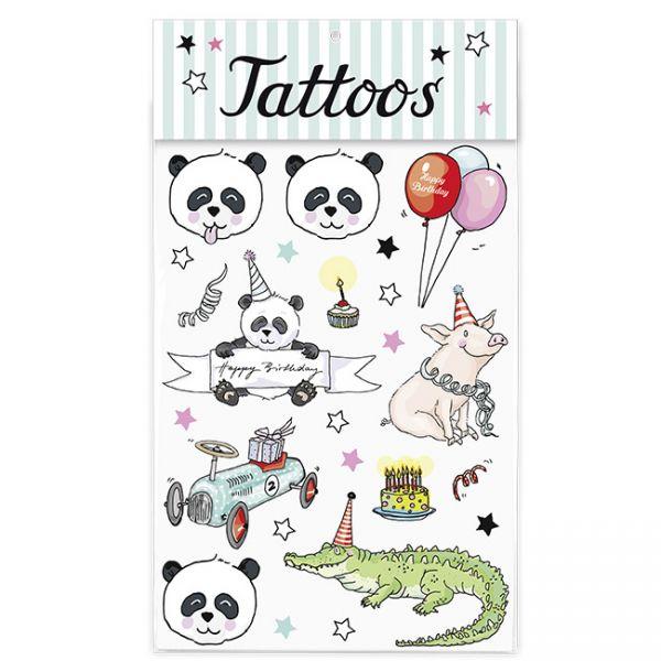 krima&isa Kinder Tattoos Pandageburtstag