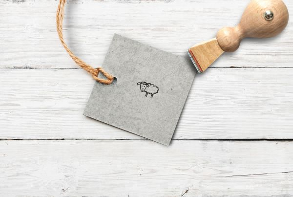 Stempel Schaf, klein