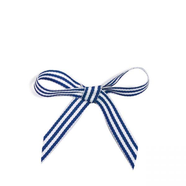 krima&isa Schleifenband im Tütchen dunkelblau gestreift