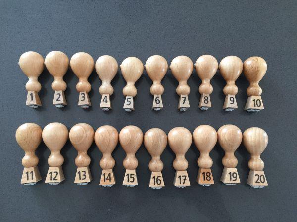 Stempel-Set Zahlen 1-20