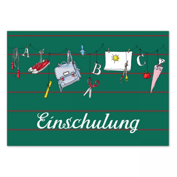 krima&isa Postkarte Einschulung
