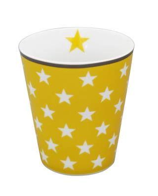 Tasse mit Sternen, gelb