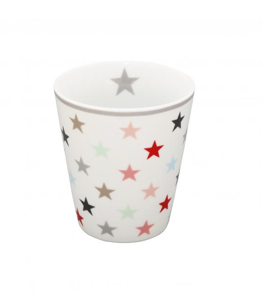 Tasse mit Sternen, bunt