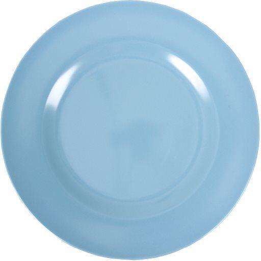 Teller aus Melamin, blau