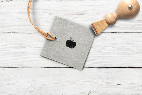Stempel Apfel, klein