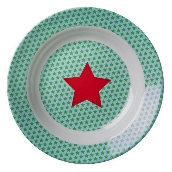 Tiefer Teller mit Sternen, grün