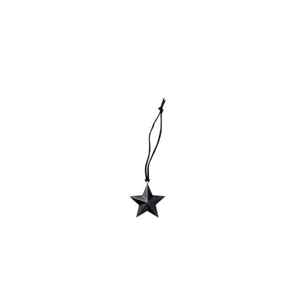 Anhänger von Bloomingville aus Metall, großer Stern schwarz