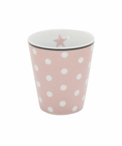 Tasse mit Punkten, rosa