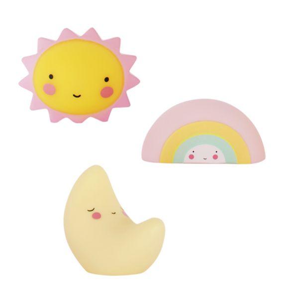 Deko Sonne, Mond, Regenbogen, mini