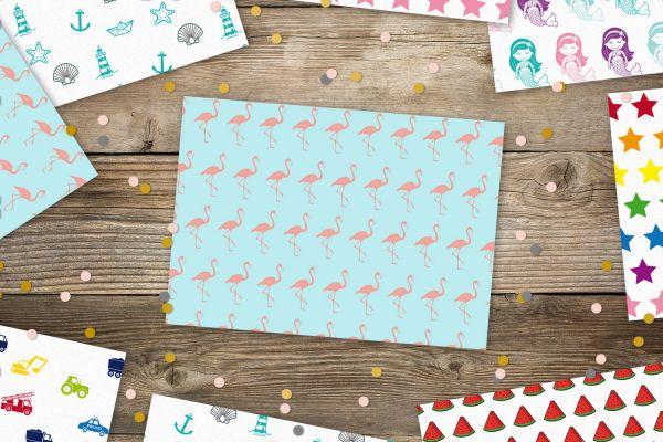 Postkarte Flamingos