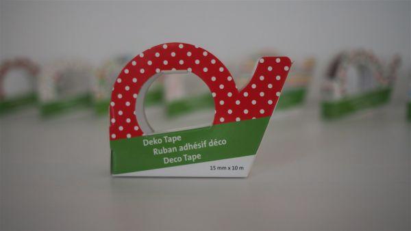 Deko-Tape, Punkte rot/weiß