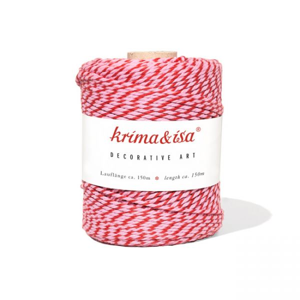 krima&isa Garnrolle lollipop rosa