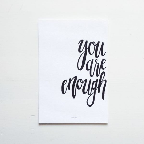 "Postkarte ""You are enough"""