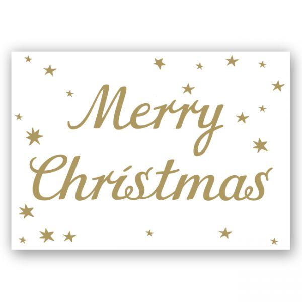 krima&isa Postkarte Merry Christmas Gold
