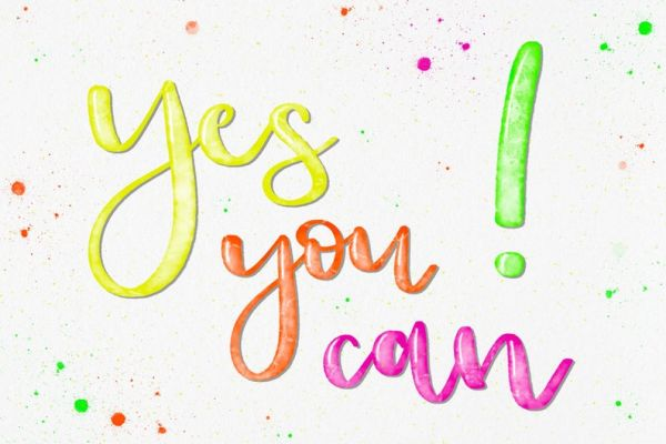 """Postkarte """"Yes you can!"""""""