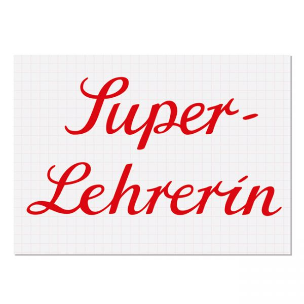 "krima&isa Postkarte ""Super-Lehrerin"""