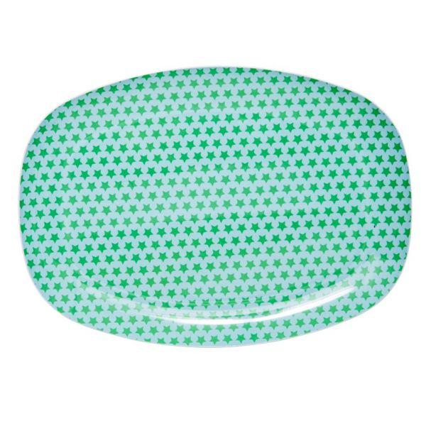 Platte mit Sternen, grün