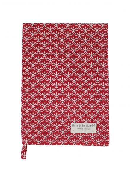 Geschirrtuch, Blütenblätter, rot