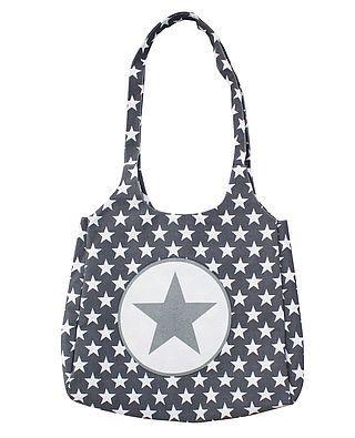 Tasche, dunkelgrau mit Sternen