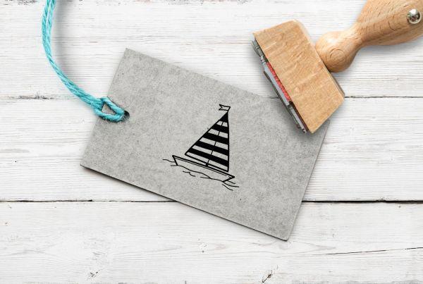 Stempel Segelboot