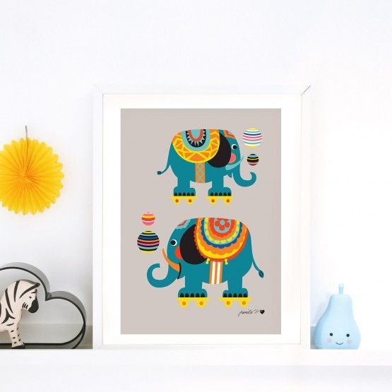 byGraziela Poster, Elefant, A3