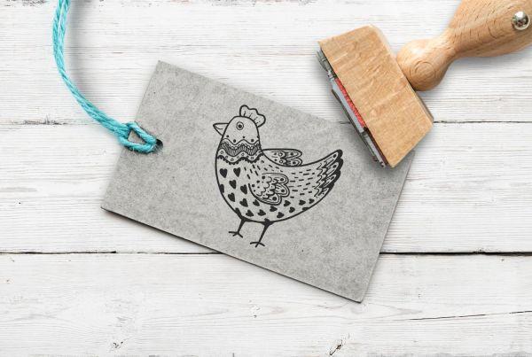 Stempel Huhn 2