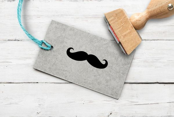 Stempel Moustache/Schnurrbart/Bart/Schnauzer
