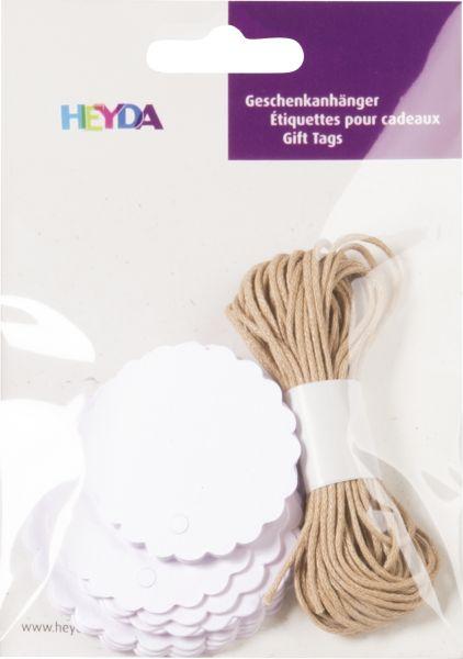 Geschenkanhänger/gift tag-Set rund, weiß (30 Stück)