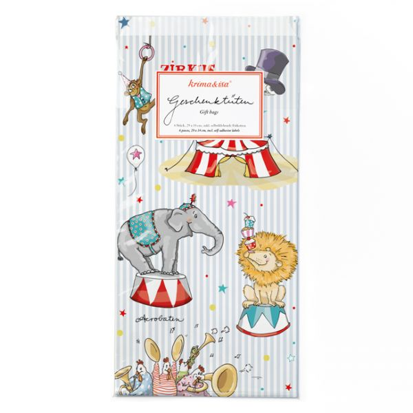 krima&isa 6 kleine Geschenktüten Zirkus