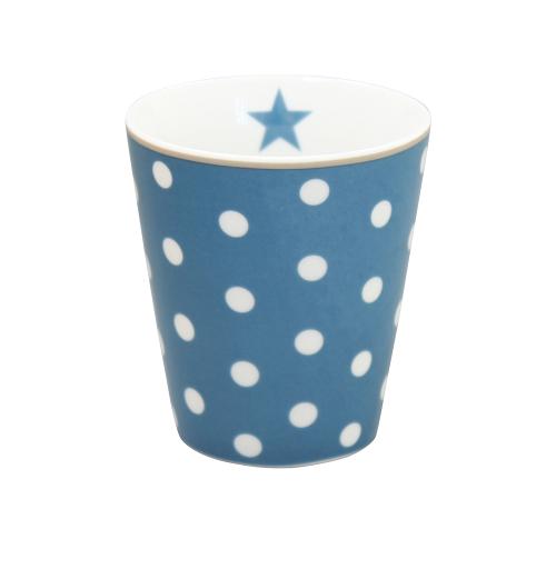 Tasse mit Punkten, dunkelblau