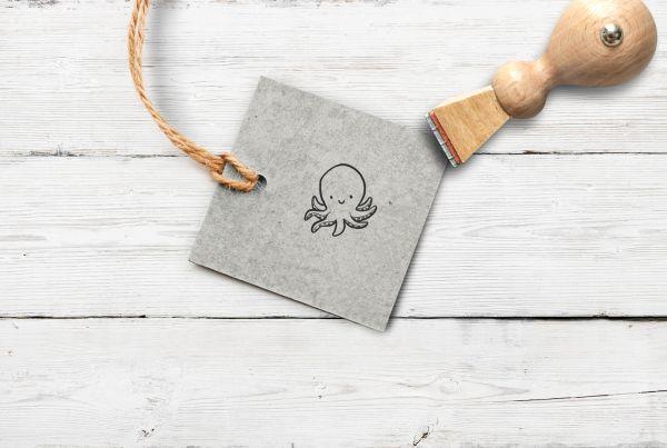 Stempel Tintenfisch, klein