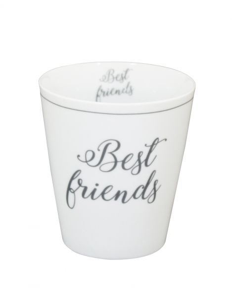"Tasse ""best Friends"", grau"