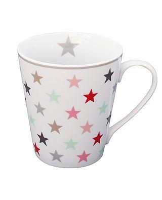 Tasse mit Henkel und Sternen, bunt