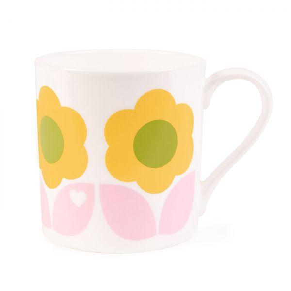 byGraziela Tasse/Becher Blumen, rosa-gelb