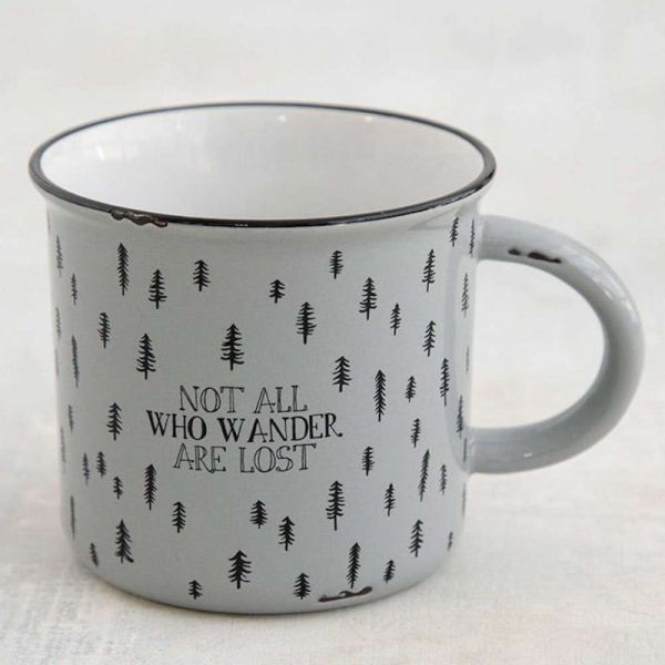 "Tasse ""not all who wander are lost"""