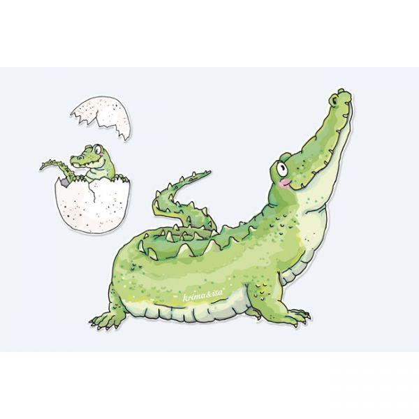 krima&isa Bügelbild Krokodil
