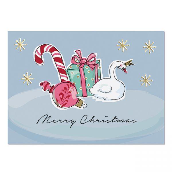 """krima&isa Postkarte """"Weihnachtsschwan"""""""
