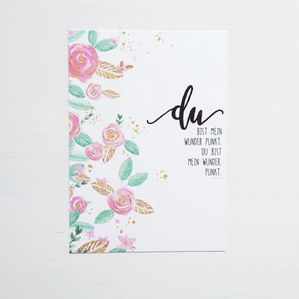 """Postkarte """"Du bist mein Wunder"""""""