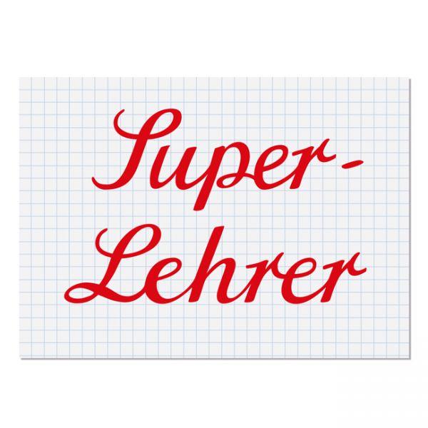 """krima&isa Postkarte """"Super-Lehrer"""""""