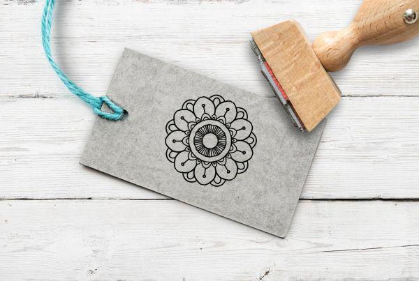 Stempel Blume/Mandala 3